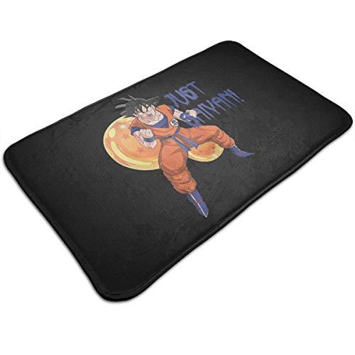 TEIJWETEIJT Dragonball Z Super Saiyan Goku Just Saiyan Fußmatte, rutschfeste Fußmatte für Küche und Badezimmer (Dekorationen Ball Z-party Dragon)