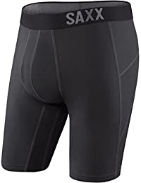 Saxx Thermoflyte Long Leg Boxer - Black XL