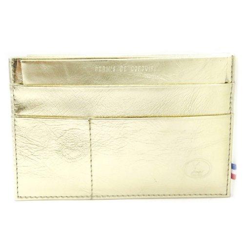 Frandi [L3382] - Porte Papiers de voiture Cuir 'Frandi' doré platine (ultra plat)