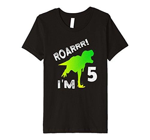 Kinder Dino T-Rex 5. Geburtstag Junge SHIRT Dinosaurier Geschenk