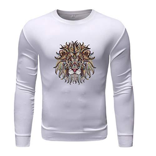 errenmode Langarm Rundhals einfarbig Druck Pullover Tops Bluse Freizeit Geschäft Vier Jahreszeiten Wild Basic Top ()