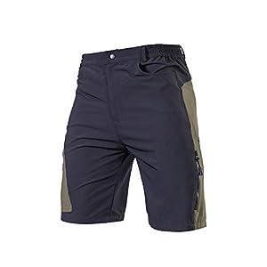 TOMSHOO Hombres Pantalones Cortos de Ciclismo Respirable Holgado Deportes Al Aire Libre MTB Cycling Running Shorts