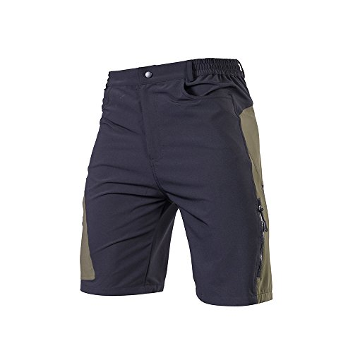 TOMSHOO Pantaloncini MTB Uomo, Pantaloncini Ciclismo Biciclette, Bici MTB Pantaloni Traspirante Shorts per Ciclismo da Corsa All'aperto
