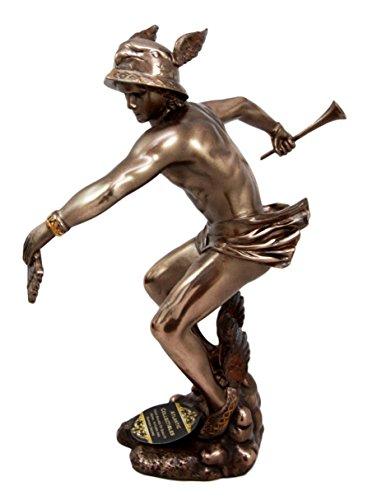 Atlantic Collectibles Dekofigur, griechisch-römische Olympia-Gottheit Hermes God of Transitions Boundaries Boundaries Messengers 25,4 cm H