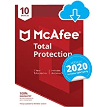 McAfee Total Protection 2020   10 Devices   1 Year   PC/Mac/Android/Smartphones   Download Code