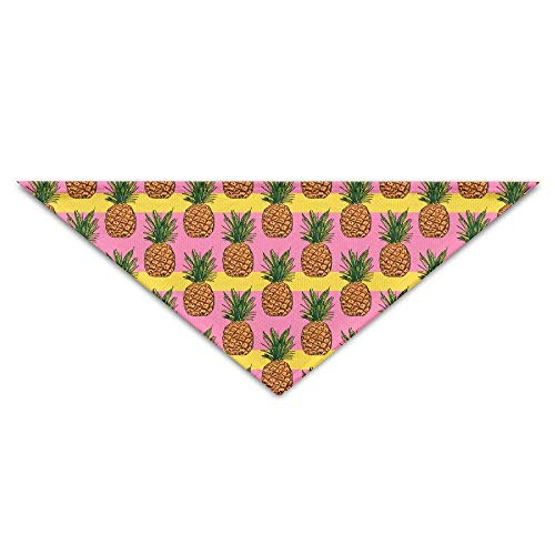Gxdchfj Pineapple On Bright Yellow Color On Stripes Triangle Pet Scarf Dog Bandana Pet Collars Dog Cat - Birthday