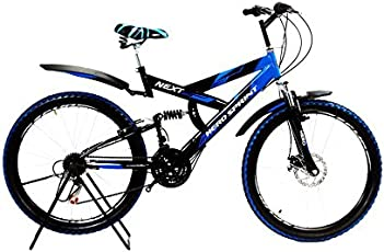 Hero Sprint Next 26T 18 Speed Aluminium Alloy Mountain Cycle without Disc (HERO-NEXT-26T-18S-BLUE, Blue and Black)