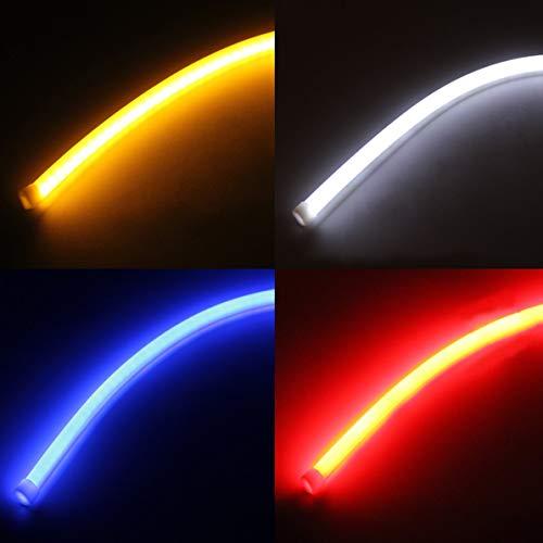 2pcs 45cm impermeabile ad alta potenza LED auto veicolo DRL Daytime Running Strip Light flessibile morbido tubo lampada faro auto