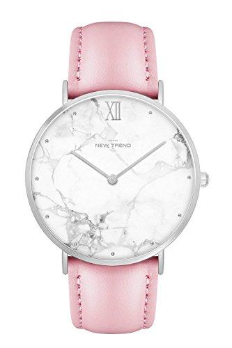 New Trend - Love for Accessories Damen Uhr analog Quarzwerk mit Kunst-Leder Armband Q8-C44S-TAGU