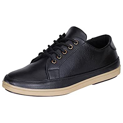 Kraasa Decent Look Patent Leather Casual Shoes Black UK 9 905-Black-9