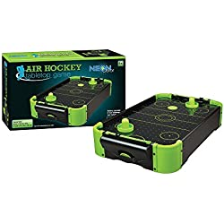 Funtime Gifts PL7780 Air Hockey Jeu de table Fluo, 51 cm - Version Anglaise