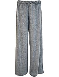 New Frauen Plus Size Ausgestelltes Palazzos Hosen mit weitem Bein Stretchy Hosen 40-58
