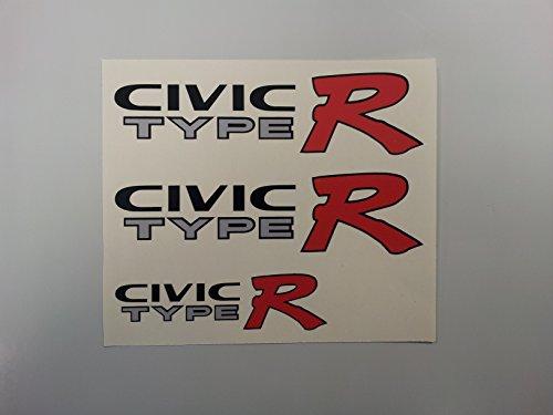 Honda Civic Type R EK9Auto Aufkleber Aufkleber (Set) (SS20017) - Aufkleber-set Für Honda