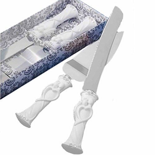 elstahl Hochzeit Strass Kuchen Messer Cutter Server Set für Hochzeit Jahrestag, mit Box 1 ()