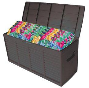 KISSENBOX AUFLAGENBOX Gartenbox, 300L, 115x45x58cm, Kunststoff, anthrazit