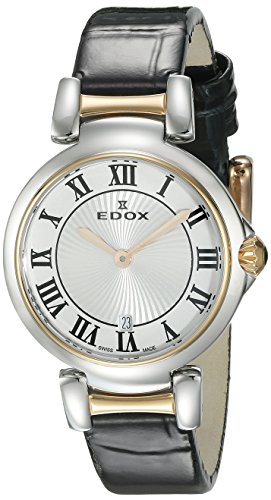 Edox Women's 57002 357RC AR LaPassion Analog Display Swiss Quartz Black Watch
