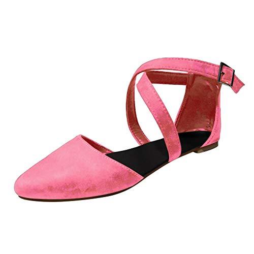 Flache Schuhe der Retro Frauen Spitzen flachen Mund einzelne Schuhe nackte Stiefel einzelne Schuhe beiläufige Quer Schnalle mit Strandsandalen