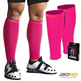 Bionix - Professional Support Unisex's CCPK Bionix Compression Calf Sleeves Pink, S/M (Women 4-6.5 / Men 4-8) Pair