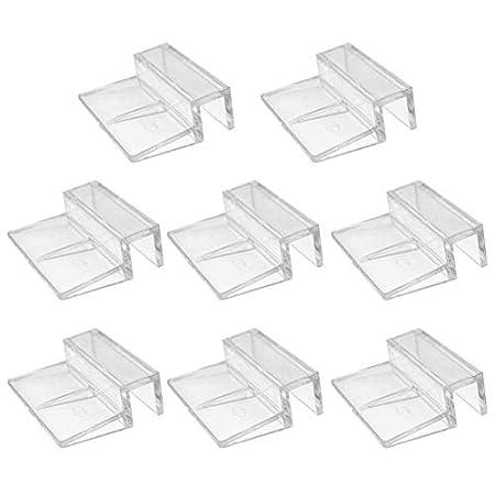 Glasabdeckungs-Clips für Aquarien, 6 mm, 8 mm, 10 mm, 2 mm, Acryl-Clips, Glasabdeckung, universale Halterungen für…