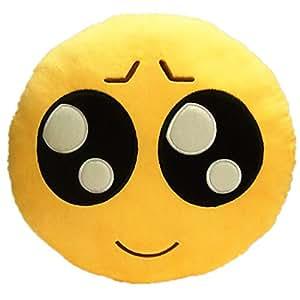 LI&HI Emoji émoticônes oreiller Rire coussin président Oreiller Coussin de siège rond(Vendre Meng)