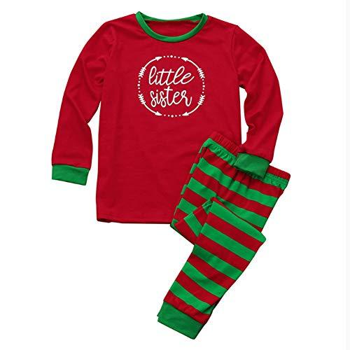 Familie passende Weihnachten Pyjamas Set rot Streifen Urlaub Weihnachten Pyjamas Nachtwäsche Schlafanzug Pjs Schlafanzug Girl 8T