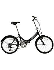 "Falcon Fold Away - Bicicleta plegable, cuadro de 13"", color negro"