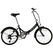 """Falcon Fold Away - Bicicleta plegable, cuadro de 13"""", color negro"""