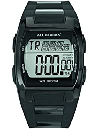 All Blacks - 680057 - Montre Homme - Quartz Digital - Cadran Noir - Bracelet Métal Noir