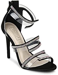 TRUFFLE COLLECTION Women's B9578-A1 Black Synthetic Fashion Sandals