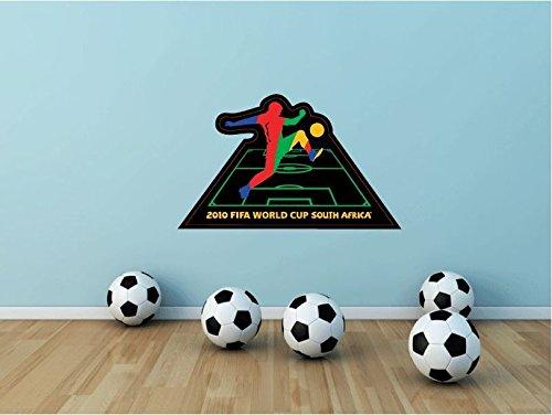 Preisvergleich Produktbild World Cup South Africa 2010 Soccer Football Sport Home Decor Art Wall Vinyl Sticker 63 x 38 cm
