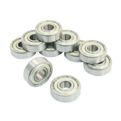 Preisvergleich Produktbild 608ZZ, Shields Rillenkugellager Metall 8 x 22 x 7 mm, 10 Stück