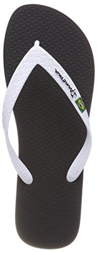 Ipanema Herren Classic Brasil II AD Zehentrenner, Mehrfarbig (Black/White_8539), 41/42 EU (Brasilien-flip-flops)