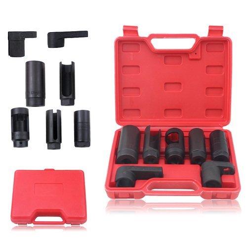 Preisvergleich Produktbild VINGO® 7-tlg Steckschlüssel Lambdasonden Satz Schlüssel Nüsse Set Werkzeug
