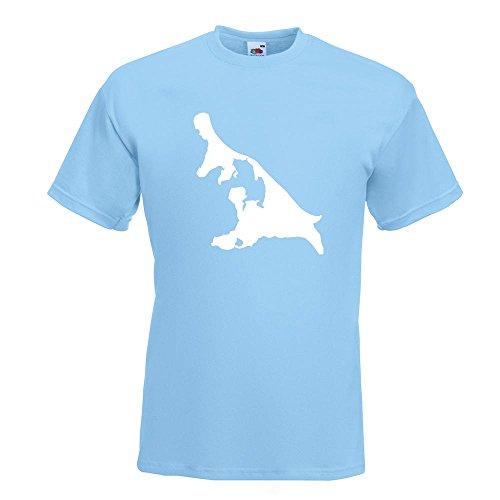 KIWISTAR - Usedom - Deutschland - Insel T-Shirt in 15 verschiedenen Farben - Herren Funshirt bedruckt Design Sprüche Spruch Motive Oberteil Baumwolle Print Größe S M L XL XXL Himmelblau