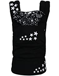 MEIMEI®Portabebé de algodón orgánico multifuncional bebé tirantes dobles . star black