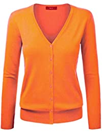 Strickjacke damen orange