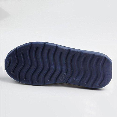 Scarpe da buco da giardino da uomo Ciabatte infradito All'aperto Tempo libero Scarpe da spiaggia Baotou sandali Casa Estate Acquista 2 prendi 1 gratis blue