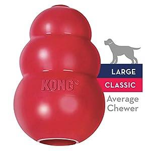 KONG Classic Der KONG Classic ist aus robustem fast unzerstörbarem Vollgummi. Er besitzt eine große Öffnung auf der Unterseite, welche Sie bequem mit den Lieblingsleckerlis des Hundes füllen können - so hat Ihr Hund jede Menge Spannung, Spiel und ein...