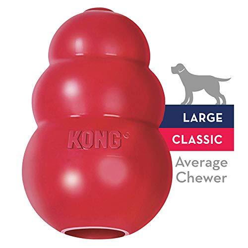 KONG - Classic Gioco cani, gomma naturale resistente - Masticare, inseguire e riportare - Taglia L