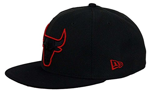 New Era 5950 NBA Diamond Prene Chicago Bulls Black Cap (Size 7 / 55.8cm)