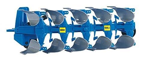 BRUDER - 02331 - Charrue reversible LEMKEN - Bleue
