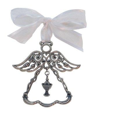 Cathedral art gifts prima comunione angelo ornamento con calice e croce braccialetto elastico con confezione regalo