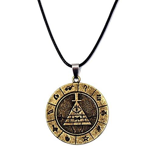 Bill Halskette Keychain Cosplay Kostüm Pyramide Zubehör Anhänger Schmuck Weihnachten Geschenk (Halskette)
