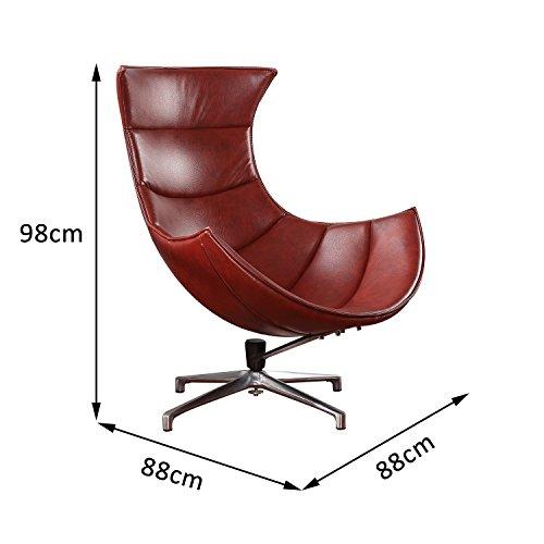 Homcom-Poltrona-Relax-Ergonomica-Girevole-in-Ecopelle-88-x-88-x-98cm-Marrone