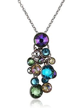 Konplott Damen-Kette mit Anhänger Waterfalls Messing Glas mehrfarbig 38 cm - 5450543300351