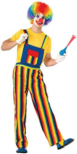 98Streifen der Clown Kostüm (Adult Big Top Clown Kostüme)