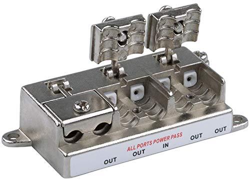 Unterputz Sat & BK-Verteiler - 4-Fach Splitter - voll geschirmt - Unicable & HD tauglich [DUR-line D4FV up - Unterputz Verteiler für Sat und Kabel - UKW Radio - DC-Durchlass - TV Antennen Fernseh]