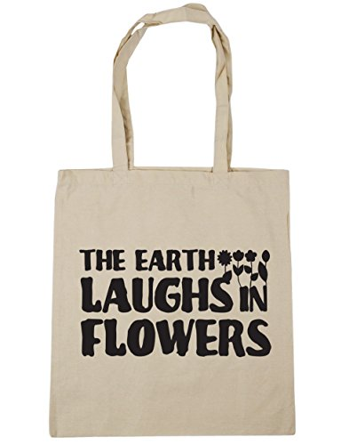 hippowarehouse-the-earth-laughs-in-flowers-tote-shopping-gym-beach-bag-42cm-x38cm-10-litres