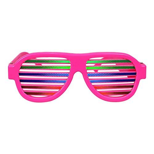 Yalatan USB-wiederaufladbare LED-Blinkgläser, Sound & Music Activated Light up Shutter Shaded Brillen für alle Altersklassen