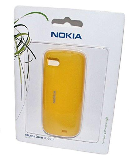Original Verpackt Nokia CC-1014 Silikon Cover Case Hülle Handy Schale Kappe in der Farbe Gelb für Nokia C3-01